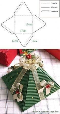 Cajita de regalo navideño.