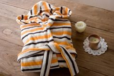 bathrobe orange