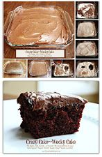 Top Recipe ~ Crazy Cake  (known as Wacky Cake & Depression Cake)