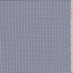 Grey Plaid Shirting - 37283 - | Discount By The Yard | Fashion Fabrics