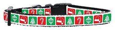Mirage Pet Products Timeless Christmas Nylon Ribbon Collar X-Small