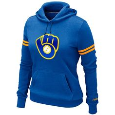 Milwaukee Brewers Women's Cooperstown Pullover Hoody
