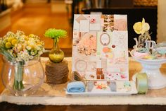 green, peach and taupe inspiration board by dana fitzgerald and photography by marvelous things photography
