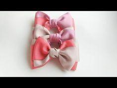 Laço Manu (Laço feito com fita gorgurão) by Tatiana Karina DIY/PAP/Ribbon Bow/ Tutorial/ - YouTube
