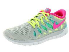 Nike Kids Free 5.0 (GS) Mtlc Pltnm/Hypr Pnk/Vlt/Hypr