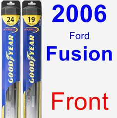 Front Wiper Blade Pack for 2006 Ford Fusion - Hybrid