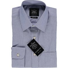 Blue Hairline Stripe Classic Fit Shirt