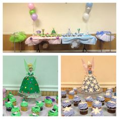 My daughters 4th birthday party Tinkerbell and periwinkle themed