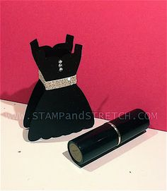 "Stampin' Up! Treat Holder  by Pam Strobel at Stamp and Stretch: Black ""DRESS UP"""