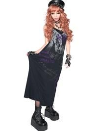 SEX POT ReVeNGe/ SKULL Feather Cut Maxi Length One-Piece / See more at http://www.cdjapan.co.jp/apparel/sexpot.html #harajuku #punk fashion