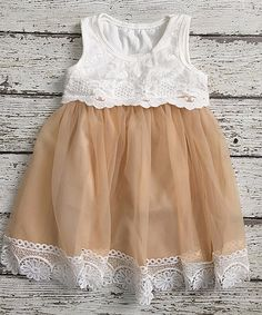 Love this Beige Vintage Lace Tank Dress - Infant & Toddler by Chicaboo on Cute Outfits For Kids, Toddler Outfits, Girl Outfits, Mom And Me Photos, Little Girl Dresses, Flower Girl Dresses, Beautiful Little Girls, Little Fashion, Easter Dress