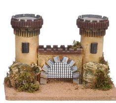 306-Castillo 2 torres Castle Project, Ceramic Houses, Fairy Houses, School Projects, Bonsai, Ideas Para, Portal, Polymer Clay, House Plans