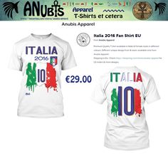 Another Awesomely cool Premium Quality #TShirt with unique Anubis Apparel(c) front & back designs. Design Requests welcome at Facebook.com/AnubisApparel #italia #italian #italy #football #soccer #2016 #azzurri #nr10 #10 #flag