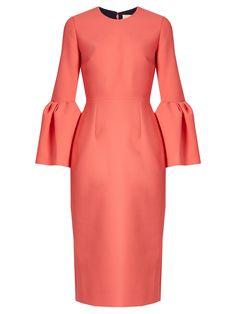 Margot bell-sleeved crepe dress | Roksanda | MATCHESFASHION.COM US