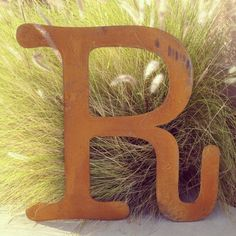 A personal favorite from my Etsy shop https://www.etsy.com/listing/169671335/huge-36-inch-tall-rusty-metal-letter-a-b