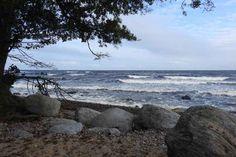 Hård blåst på Kiviks strand