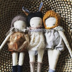 These three are listed! #puppadolls #etsyshop #kidsdecor #kinderkamer #etsy #etsykids #etsyshop #handmade #handmadetoy #handmadedoll