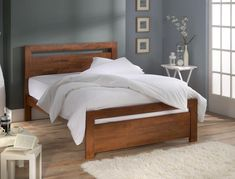 wooden double bed frames