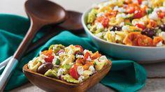 Salade grecque de tortellinis #IGA #Recettes #Salade