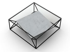 Arvo Coffee Table - Black, Italian Carrera Marble Shelf from NicheLondon