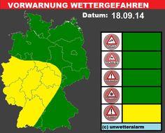 Am Mittag vor allem im Westen und Südwesten #Gewitter möglich