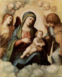 Madonna and Child with Angels  - Correggio