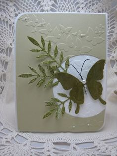 Monochrome by bettijo (Betty), via Flickr.  I like how she used diecut images with the dry embossing and monochromatic color