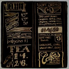 I like that they made chalk board designy and didn't just write what is on the menu.