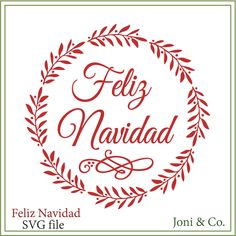 Christmas SVG file Feliz Navidad svg Christmas cards