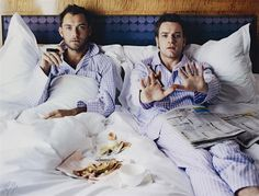 """Adorable...if you have  £3,000-5,000 to spare, Lorenzo Agius """"Jude & Ewan in bed"""" 2003 - Lot 26 Phillips London 17 May"""