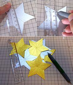 キラキラ立体星ガーランドの作り方