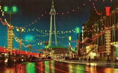 The Central Prom in Blackpool Lancashire England