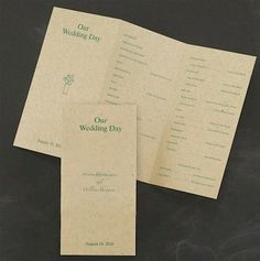 Antique Brown #Wedding #Program