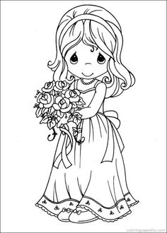 Precious Moments Coloring Pages 28                                                                                                                                                                                 Plus