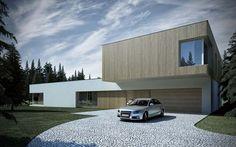 Casas minimalistas. Más información sobre este y otro tipo de casas prefabricadas en: casasprefabricadasya.com #casas #prefabricadas #baratas #madera #diseño