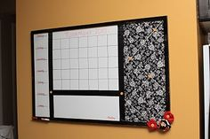 Everything board, menu, calendar, french bulletin board, memo area