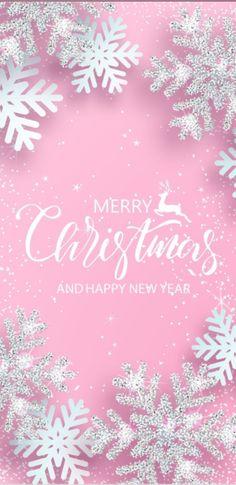 Pink Christmas Decorations, Christmas Colors, Christmas Art, Welcome To Christmas, Merry Christmas Happy Holidays, Cute Christmas Wallpaper, Christmas Background, Pink Wallpaper, Iphone Wallpaper
