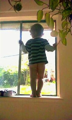 Flashing the neighbors already at age 1!  This can't be good.lol