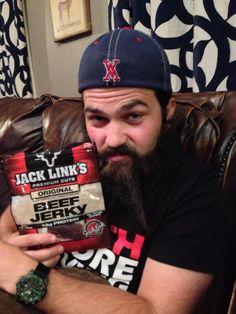 Jep & his beef jerky lol