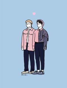 Got7 Fanart, Kpop Fanart, Kpop Drawings, Cute Drawings, Exo Fan Art, Got7 Jinyoung, Cartoon Boy, Jimin Wallpaper, Cute Cartoon Wallpapers