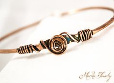 Spiral Meditation Bracelet - OOAK Handcrafted Copper Bracelet (004)