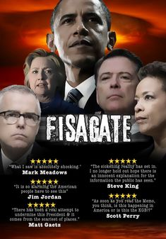 FISAGATE president Obama and his criminal gang excuse to surveillance president Donald Trump political campaign.