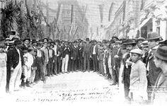 Rua do Cano, atual 7 de Setembro em 6 de setembro de 1906.Inaugurada pelo Prefeito Pereira Passos