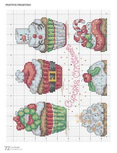 63 Ideas crochet patterns christmas stocking cross stitch for 2019 Cupcake Cross Stitch, Xmas Cross Stitch, Cross Stitch Love, Cross Stitching, Cross Stitch Embroidery, Cross Stich Patterns Free, Free Cross Stitch Charts, Cross Stitch Designs, Crochet Patterns