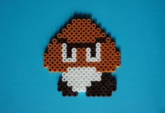Goomba Mushroom (Mario Bross) Hama beads magnet | Flickr - Fotosharing!