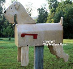 Wheaten Terrier Mailbox