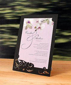 """Laser Expressions Classic Orchid """"double-luxe"""" invitation.  About $3 each."""