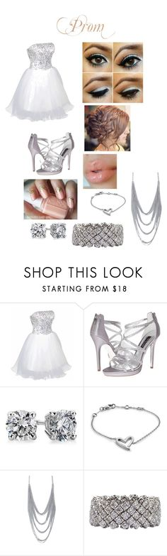 """""""Prom Outfit"""" by mickeybri ❤ liked on Polyvore featuring FairOnly, Nina, Blue Nile, Calvin Klein and The Gem Palace"""