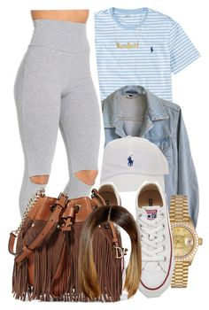 """""""4/24/16"""" by lookatimani ❤ liked on Polyvore featuring Ralph Lauren, American Apparel, Rolex, Converse and Diane Von Furstenberg"""