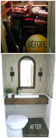 You can add a bathroom just about anywhere in your home - you don't need a rough-in or major construction.  We turned this basement closet into a powder room - it was all DIY and we're sharing the how-to.  With Saniflo Canada